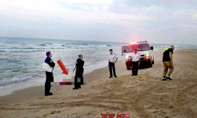 נתניה, מה גרם לטביעת אישה כבת 40למוות ביםדרומית לחוף ארגמן | צילום: דוברות מדא | עיבוד צילום: שולי סונגו ©