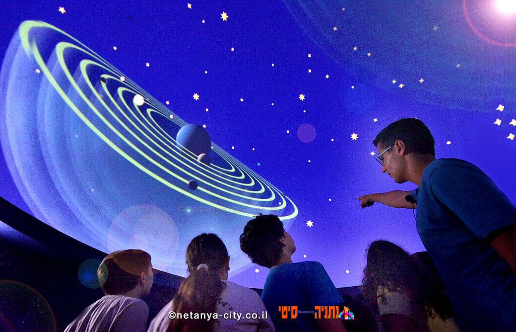 מרכז המדע, החלל והתרבות פלנתניה תצפית כוכבים בנתניה בליל שישי ושבת בבוקר לילדים   צילום: דוברות עיריית נתניה   עיבוד צילום: שולי סונגו